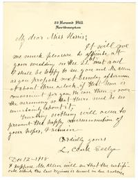 Correspondence from L. Clark Seelye to Mr. and Mrs. Allen
