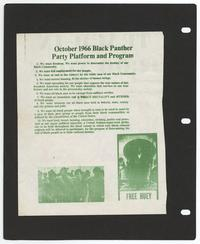 Black Panther Party Platform and Program