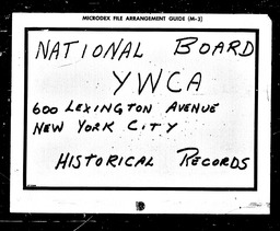 Student YWCA of the U.S.A. records, Record Group 11. Microfilmed headquarters files