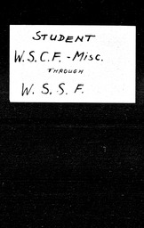 World Student Christian Federation and World Student Service Fund YWCA of the U.S.A. records, Record Group 11. Microfilmed central files
