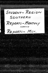 Student: Southern region YWCA of the U.S.A. records, Record Group 11. Microfilmed central files
