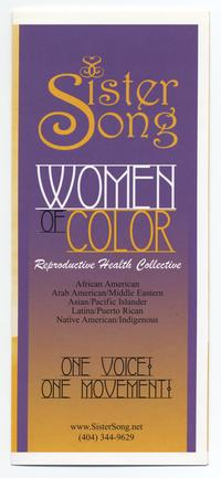 Sister Song: Women of Color Reproductive Health Collective pamphlet