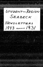 Student: Seabeck region YWCA of the U.S.A. records, Record Group 11. Microfilmed headquarters files