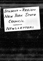 Student: Silver Bay region YWCA of the U.S.A. records, Record Group 11. Microfilmed central files