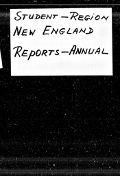Student: New England region YWCA of the U.S.A. records, Record Group 11. Microfilmed central files