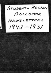 Student: Asilomar region YWCA of the U.S.A. records, Record Group 11. Microfilmed central files