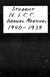 National Intercollegiate Christian Council YWCA of the U.S.A. records, Record Group 11. Microfilmed central files