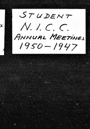 National Intercollegiate Christian Council YWCA of the U.S.A. records, Record Group 11. Microfilmed headquarters files