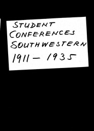 Student conferences YWCA of the U.S.A. records, Record Group 11. Microfilmed central files