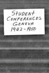 Student conferences YWCA of the U.S.A. records, Record Group 11. Microfilmed headquarters files