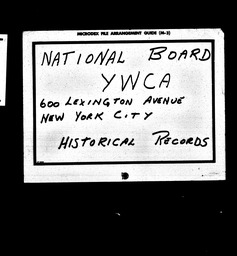 Rural YWCA of the U.S.A. records, Record Group 11. Microfilmed headquarters files