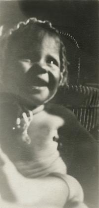 Baby Sylvia Plath laughing