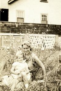 Sylvia Plath and her mother at Winthrop Beach