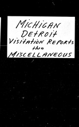 Michigan YWCA of the U.S.A. records, Record Group 11. Microfilmed central files