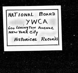 Georgia YWCA of the U.S.A. records, Record Group 11. Microfilmed central files
