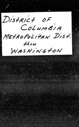 District of Columbia YWCA of the U.S.A. records, Record Group 11. Microfilmed central files