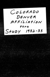 Colorado YWCA of the U.S.A. records, Record Group 11. Microfilmed central files