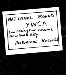 Arkansas YWCA of the U.S.A. records, Record Group 11. Microfilmed central files