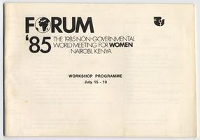 Forum '85 The 1985 Non-Governmental World Meeting of Women program