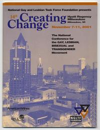 14th Annual Creating Change National Conference for Gay, Lesbian, Bisexual, and Transgender Movement program cover