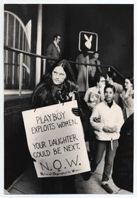 National Organization for Women picketing the Playboy Club