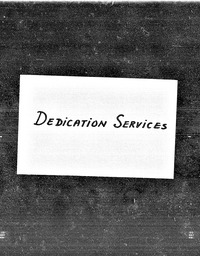 Dedication services YWCA of the U.S.A. records, Record Group 11. Microfilmed headquarters files