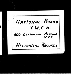 Community Division Committee minutes and reports YWCA of the U.S.A. records, Record Group 11. Microfilmed central files