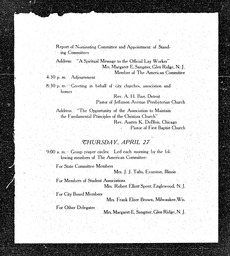 American Committee convention proceedings YWCA of the U.S.A. records, Record Group 11. Microfilmed central files