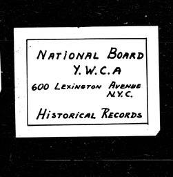 Louisiana YWCA of the U.S.A. records, Record Group 11. Microfilmed central files