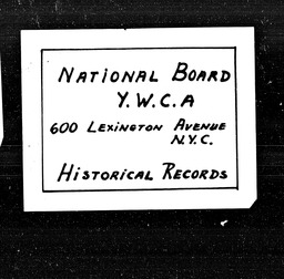 Indiana YWCA of the U.S.A. records, Record Group 11. Microfilmed headquarters files