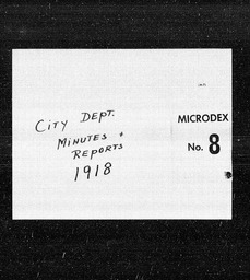 City Department minutes and reports YWCA of the U.S.A. records, Record Group 11. Microfilmed central files
