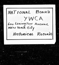 Asilomar Committee minutes and reports YWCA of the U.S.A. records, Record Group 11. Microfilmed central files