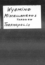 Wyoming YWCA of the U.S.A. records, Record Group 11. Microfilmed central files