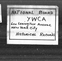 Washington YWCA of the U.S.A. records, Record Group 11. Microfilmed central files