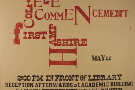 1971 Hampshire College Commencement Poster