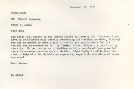 Letter from the Eqbal Ahmad papers