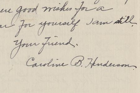 Caroline Boa Henderson Papers