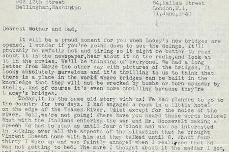 Edward R. and Janet Brewster Murrow Papers