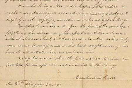 Caroline LeConte Morris Correspondence